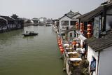 View of River Village with Boats  Zhujiajiao  Shanghai  China