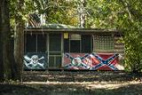 Flagged Cabin  Atchafalaya Basin Area  Louisiana  USA
