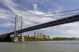 George Washington Bridge  Hudson River  New York  New York  USA