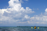 Kayaking around Barrier Reef  Southwater Cay  Belize
