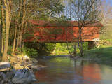 Covered Bridge over Sinking Crook  Newport  Virginia  USA