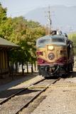 Napa Valley Wine Train in Train Station  California  USA