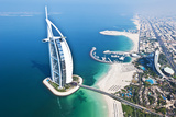 Aerial View of the Burj Al Arab, Dubai, United Arab Emirates Papier Photo par Bill Bachmann