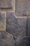 Inca Stone Wall Detail  Sacred Valley  Ollantaytambo  Cuzco  Peru
