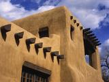 New Mexico Adobe Architecture  Santa Fe  New Mexico  USA