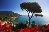 View of the Amalfi Coast from Villa Rufolo in Ravello  Italy