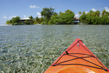 Kayaking in the Shallow Water  Southwater Cay  Stann Creek  Belize