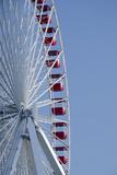 Detail of Navy Pier Farris Wheel  Chicago  Illinois  USA