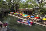 Boat Tours on the Riverwalk in Downtown San Antonio  Texas  USA