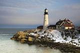Portland Head Light  Cape Elizabeth  Casco Bay  Maine  USA