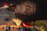 Firework Celebration at Whitefish Mountain Resort  Montana  USA
