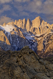 Sunrise on Mt Whitney  California  USA