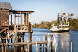 Shrimp Boat, Cocodrie, Terrebonne Parish, Louisiana, USA Papier Photo par Alison Jones