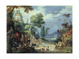 Landscape with Birds  1628