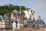 Town View with Cliffs  Le Treport  Normandy  France