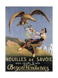 Poster Advertising Pasta Made by 'Bozon-Verduraz'