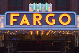 Fargo Theater Sign  Fargo  North Dakota  USA