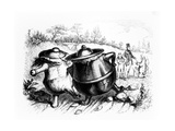 The Two Pots  Illustration for 'Fables' of La Fontaine (1621-95)  Published by H Fournier Aine …