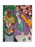Woman in a Purple Coat, 1937 Reproduction d'art par Henri Matisse