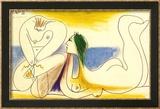 Sur la Plage, 1961 Reproduction encadrée par Pablo Picasso