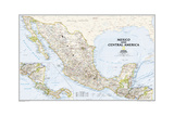 2008 Mexico and Central America Map Reproduction d'art par National Geographic Maps