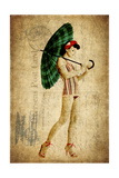Pinup Girl in the Shade Giclée premium par GI ArtLab