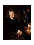 Digitally Restored American History Painting of President Franklin Roosevelt