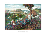 American Civil War Print Featuring the Battle of Missionary Ridge