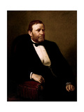 Vintage American History Painting of President Ulysses S Grant
