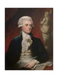 Vintage American History Painting of President Thomas Jefferson