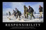Responsibility: Inspirational Quote and Motivational Poster