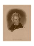 Digitally Restored American History Portrait of President Andrew Jackson