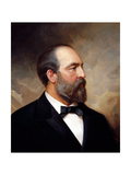 Vintage American History Painting of President James Garfield