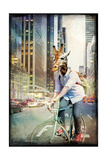Giraffe on a Bike