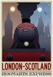 London- Scotland Hogwarts Express Retro Travel Poster