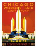 Chicago World's Fair - A Century of Progress, 1833-1933 Giclée