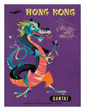 Hong Kong - Qantas Airways - Chinese Treasure Dragon Giclée par Harry Rogers
