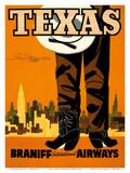 Texas - Braniff International Airways - Cowboy