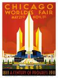 Chicago World's Fair - A Century of Progress, 1833-1933 Reproduction d'art