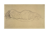 Reclining Woman  Seen from Behind
