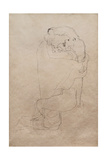 Kneeling Man and Seated Woman Embracing