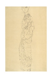 Standing Woman Wrapped in Sheets