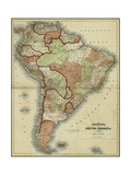 Small Antique Map of South America