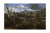 Landscape with Buildings  1648-1650