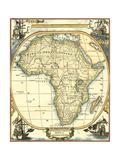 Nautical Map of Africa Reproduction d'art par Vision Studio