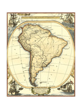 Nautical Map of South America