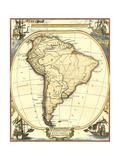 Nautical Map of South America Reproduction d'art par Vision Studio