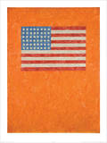 Flag on Orange Field