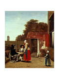 A Dutch Courtyard  1658-1660