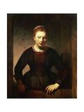 Young Girl at an Open Half-Door  1645